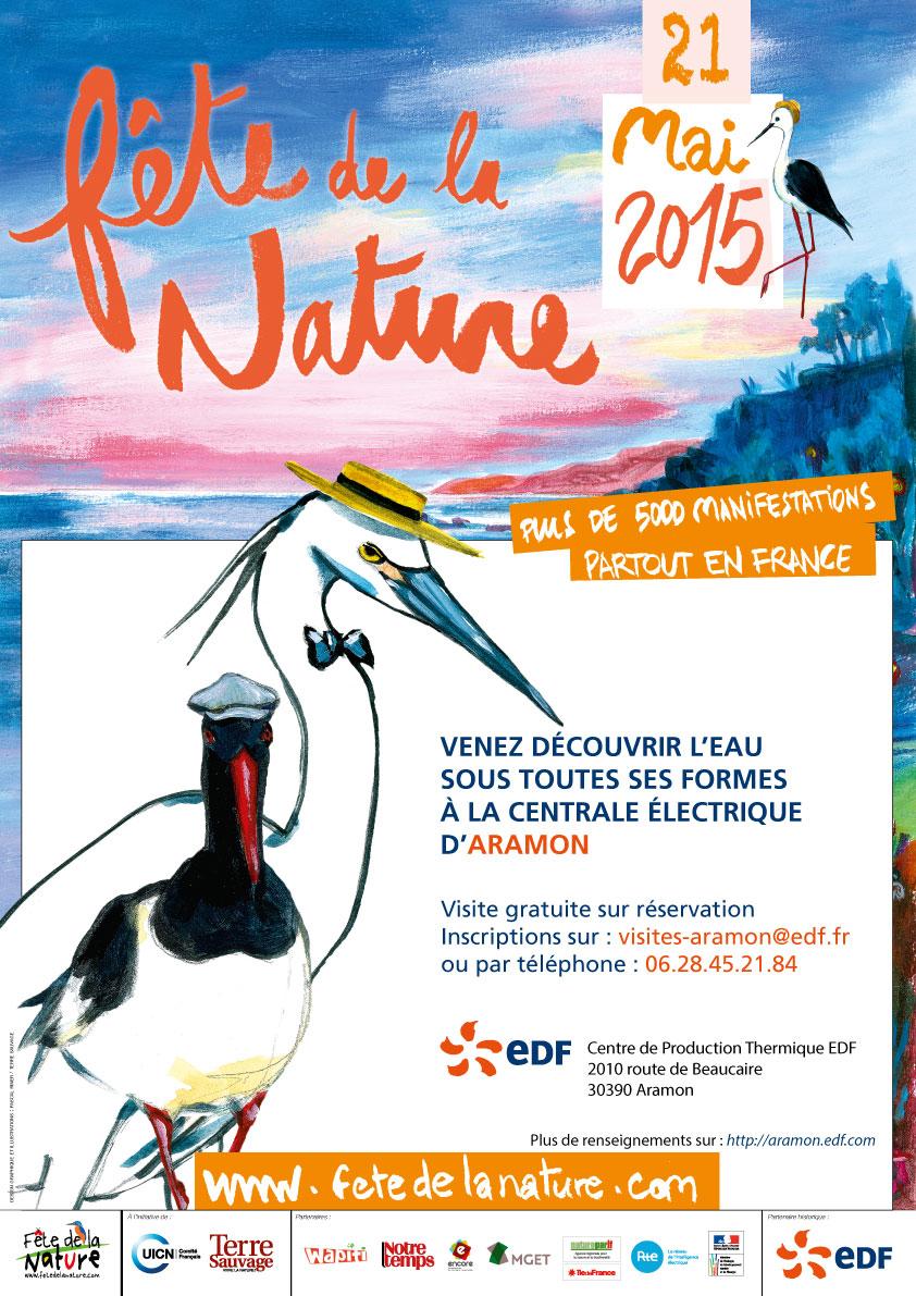 2015-03 - EDF Aramon - Affiche A3 - Fête de la nature