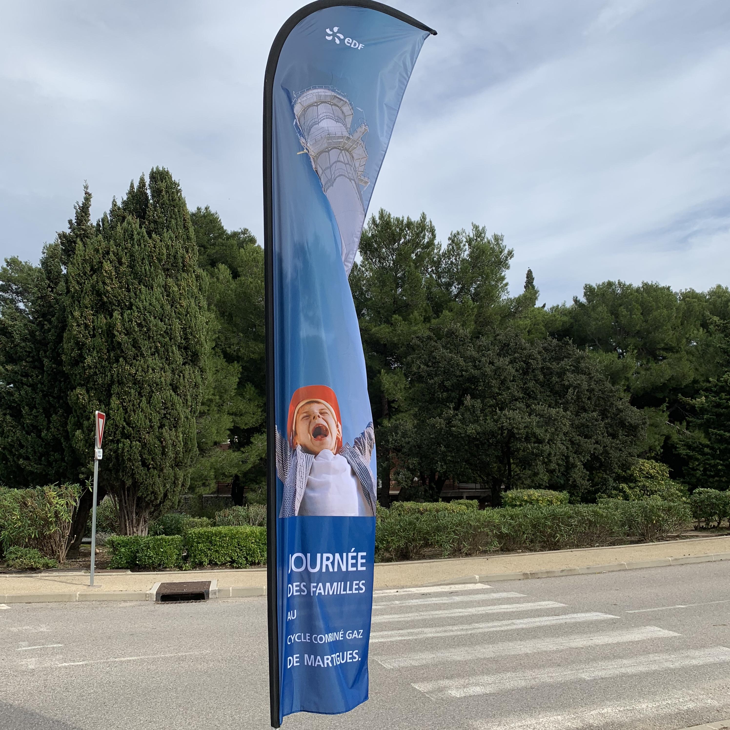 Campagne visuelle pour la journée des Familles 2018 - EDF Martigues - Oriflamme