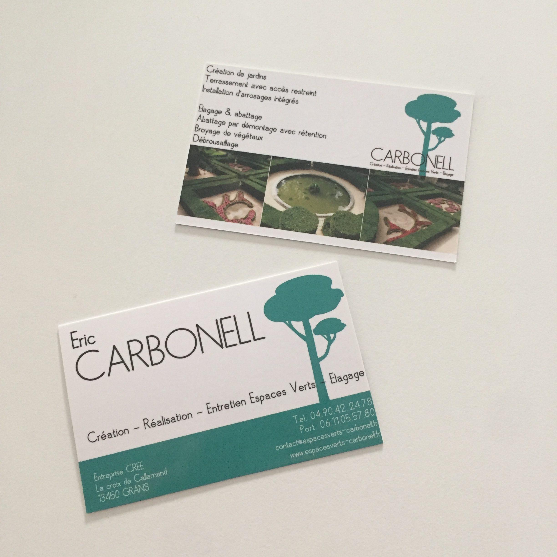 Cartes de visites pour CARBONELL - Paysagiste