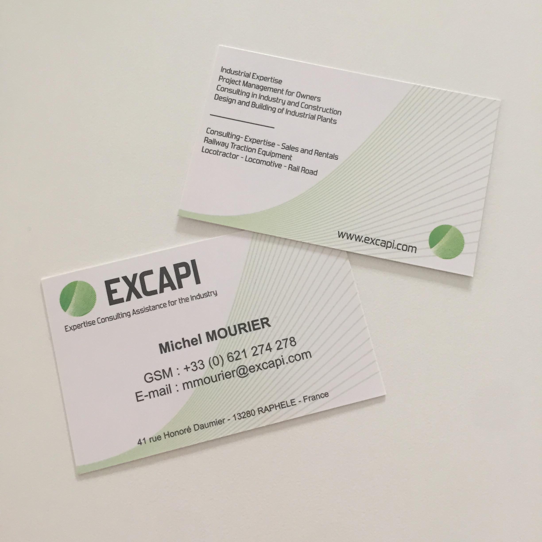Cartes de visites pour EXCAPI