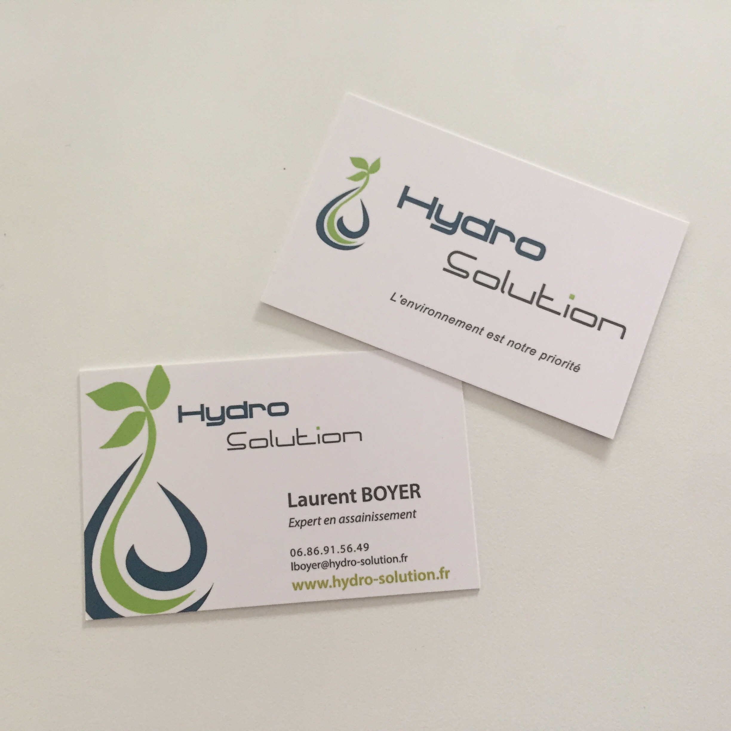 Cartes de visites pour HYDRO SOLUTION - Assainissement