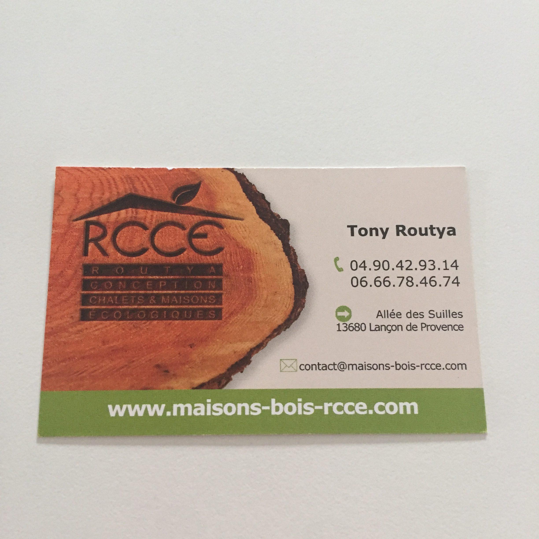 Cartes de visites pour RCCE - Maisons en bois