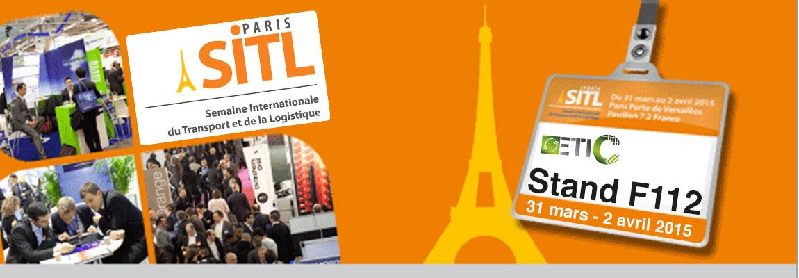 Bandeau d'annonce pour la participation d'ETIC au Salon SITL Paris 2015
